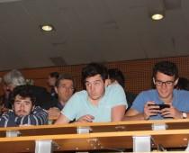 l'auditoire étudiant