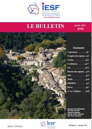 Bulletin IESF OM N° 61-Janvier 2019