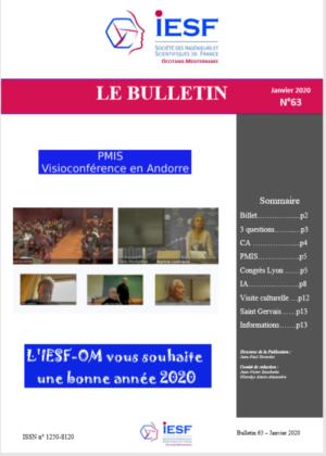 Bulletin IESF-OM N° 63-Janvier 2020