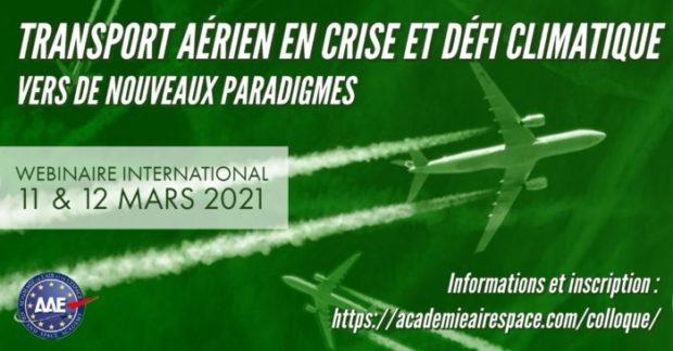 Colloque Transport aérien en crise et défi climatique