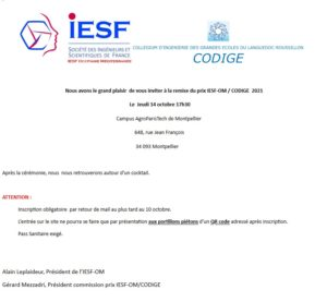 Prix IESF-CODIGE 2021