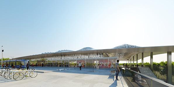 Visite de la gare LGV de Montpellier