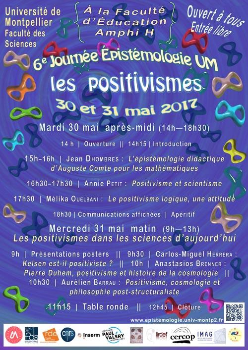 Sixième Journée Épistémologie de l'Université de Montpellier