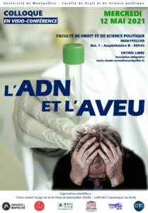 Visio conf/ Université Montpellier : Colloque « L'ADN et l'aveu »